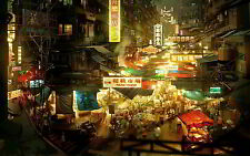 CHINESE BAZAAR NEW A2 CANVAS GICLEE ART PRINT POSTER