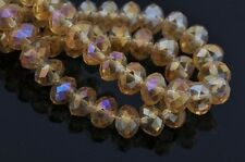 LOTS 70pcs Rondelle Crystal Glass Loose Spacer Beads Jewelry Making Findings 8mm