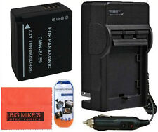 DMW-BLE9 Battery And Charger for Lumix DMC-GF3 DMC-GF5 Digital Camera
