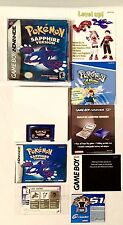 Pokemon SAPPHIRE •Complete in Box CIB• GBA Game Boy Advance Lady Astrid GameBoy