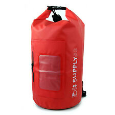 Buhbo Waterproof Dry Bag for Kayak Canoe Backpack Duffle, 15 Liters Red