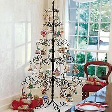 Wrought Iron Christmas Tree Metal Holder Stand Holiday Ornament Display 7 Foot