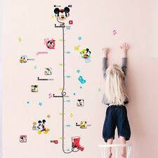 Mickey Mouse Minnie Wall Sticker Kids Height Measure Chart Home Decor Decal Art