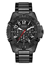 Guess  Men's Black Stainless Steel Watch - U0800G2