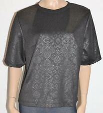 NOW Brand Black Luxe Short Sleeve Top Size 18 BNWT #sm63
