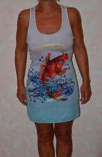 jolie robe grise et bleu  ED HARDY fish taille XS ** NEUVE ÉTIQUETTE **