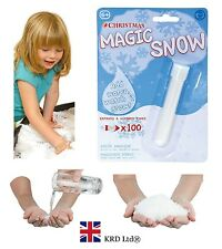 High Quality Magic Instant Fluffy WHITE Fake Snow Super Fast Absorbent Christmas
