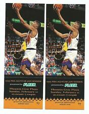 2 (Pair) UNUSED 1995 NBA All Star Game Jam Session Tickets Kevin Johnson Fleer