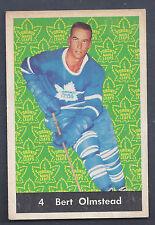1961 Parkhurst #4 Bert Olmstead Toronto Maple Leafs VG-EX Plus