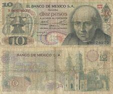 10 Pesos. Méjico D. F. Banco de México S. A. 16 de Octubre. Serie 1CS.