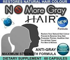 3x No More Gray Hair Anti Grey Pills Catalase Restores Reverses Gray Hair Colour