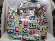CATH KIDSTON WIPE CLEAN CLOCKS TOTE SHOPPING BAG EXCELLENT CONDITION