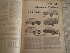 REVUE TECHNIQUE BMC 1100 MORRIS AUSTIN INNOCENTI MG PRINCESSE et PEUGEOT 403