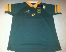 South Africa Supporters Rugby Shirt made by Asics - 100% Cotton - Size XL - BNWT