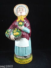 FRANKLIN PORCELAIN CRIES OF LONDON TOBY JUG - FLOWERS PENNY A BUNCH
