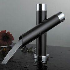 Wasserhahn Küchenarmatur Waschbecken Einhebel Armatur Schwarz Wasserfall Design