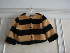 NWT $89 JANIE AND JACK GIRLS FAUX FUR COAT JACKET 3-4 3T 4T