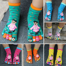 New 5 pairs socks Fashion Creative 5 toe socks  Cotton For Child  3-5 Years Old
