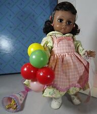 "BOXED 7.5"" MADAME ALEXANDER HARD PLASTIC HAPPY BIRTHDAY BLACK DOLL #325"
