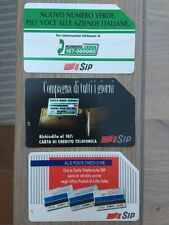 3 SIP phone cards, Italy. Used