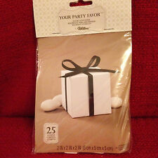 Wilton White Party Favor Boxes 25-Ct Wedding/Showers/Parties #070896486226 New