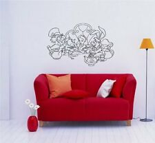 Alice in Wonderland Tea Party Wall art Sticker Decal d36