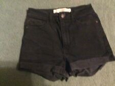 Abercrombie & Fitch Ladies Juniors Sz 00 High Waisted Black Jean Shorts