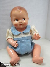 ANTIQUE IRWIN NON-FLAM CELLULOID POSABLE SIDE EYE BABY BOY DOLL
