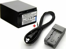 Battery + Charger for Sony HXR-MC1P HXR-MC50E HXR-MC58C HXR-NX3D1E HXR-NX30E