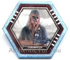 2015 Star Wars Topps Galactic Connexions Trading Disc CHEWBACCA Starfield Blue