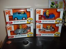 Full Set of 4 Despicable Me Minions Die-Cast Cars,Dave,Stuart,Tim,Minion, LOOK!