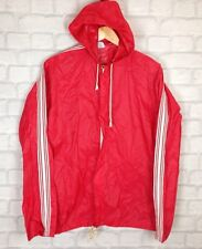 VINTAGE RETRO RAINCOAT BOLD BRIGHT CAGOULE FESTIVAL COAT JACKET SPORT S/M