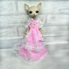 Mimi Collection Fashion Hujoo Albu Dog Lily Rose Yo-SD Outfit Pink Lace Dress
