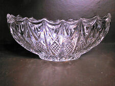 Vintage Cut Glass Banana Bowl-Mint Condition