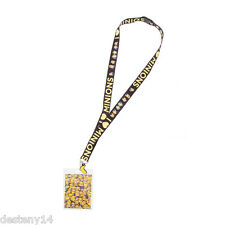 Despicable Me Minions Lanyard ID Holder Keychain W/Rubber Charm NWT