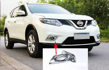 Chrome Front Fog Light Cover Trim for 2014-2016 Nissan X-Trail Rogue 2015