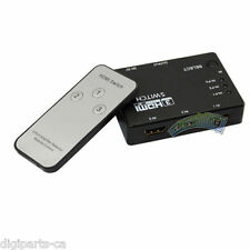 3 PORT HDMI Switch Switcher Selector w/ Remote 1080p FOR HDTV PS3 DVD (60-153)