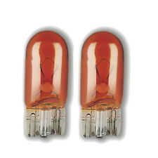 Pair of 501A T10 12V 5W Capless Amber Indicator Car Bulbs