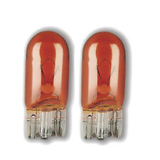 Amber 501 (T10/W5W) 12v 5w Capless Indicator Car Bulbs (Pair)
