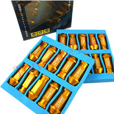 GOLD Lot 20 For HONDA ACURA CIVIC ACCORD JDM D1 Spec Wheel Lug Nuts M12 X1.5MM