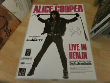 ALICE COOPER  SIGNED POSTER