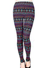 Multi Colored Fashion Leggings LG / XL