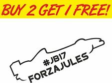 #JB17 Forza Jules Bianchi RIP Memorial Vinyl Car Window BUMPER Stickers Decals