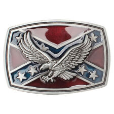 New American Eagle Rebel Cross Flag Belt Buckle USA State Peace Flag Men Vintage