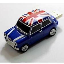 Classical UK flag Mini Car Blue Model USB 2.0 Flash Memory Stick Pen Drive 8GB