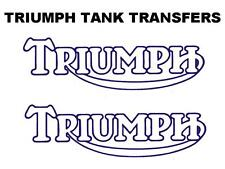 Triumph Outline Tank Decal Transfer Sticker BSA Norton Bonneville Trophy Blue