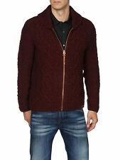 DIESEL K-IDRA RED WOOL BLEND CARDIGAN SIZE M 100% AUTHENTIC