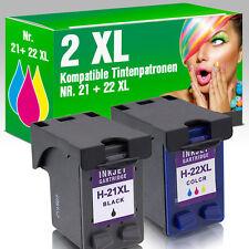 2 für HP 21 22 XL DeskJet F380 F2180 F4180 F2280 F370 D1560 F2224 PSC 1410 1415