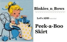 ADD Peek a Boo SKIRT to Binkies_n_Bows Dress Adult Baby Sissy Little Extra's