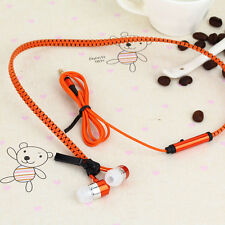 3.5mm Jack In-ear Zipper Stereo Hands-free Headphone Earphone Headset Earbud Mic